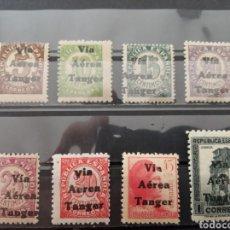 Sellos: ESPAÑA. TÁNGER VÍA AÉREA. 1938. EDIFIL 128/133, 135, 138. NUEVOS **. Lote 286788973