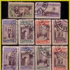 Sellos: TÁNGER, BENEFICENCIA, HUÉRFANOS TELÉGRAFOS, 1937 VISTAS DE TÁNGER COMPLETAS (O). Lote 286938353