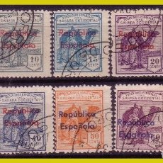 Francobolli: SAHARA 1931 SELLOS DE 1924 HABILITADOS, EDIFIL Nº 36B A 45B (O). Lote 286983693