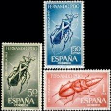 Sellos: FERNANDO POO 1965, EDIFIL.242/44 (PRO INFANCIA: INSECTOS)./ NUEVOS, SIN FIJASELLOS. MNH.. Lote 287083818