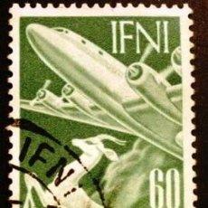 Sellos: SELLO DE IFNI, DE 1953. GACELA Y AVIÓN. Lote 287244123