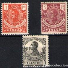 Sellos: GUINEA ESPAÑOLA Nº 108/9 Y 111. AÑO 1914-1917. Lote 287666973