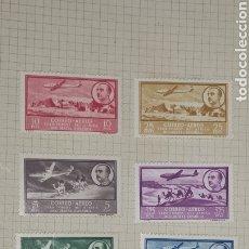 Sellos: AFRICA OCCIDENTAL CORREO 1951 EDIFIL 20/26 NUEVOS CON SEÑAL DE FIJASELLOS. Lote 287673393