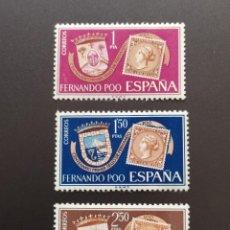 Sellos: ##ESPAÑA - FERNANDO POO NUEVO XXV ANIVERSARIO GOBIERNO DE FRANCO 1961##. Lote 287781878