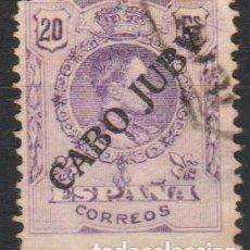 Sellos: CABO JUBY 1922-23, EDIFIL 21 USADO ''ALFONSO XIII - MEDALLÓN''./ FOTO: VER ANVERSO Y REVERSO.. Lote 287789273