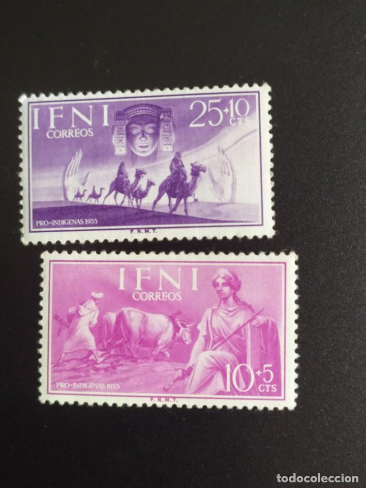 ## ESPAÑA- IFNI NUEVO 1955 PRO INDIGENAS 2 SELLOS## (Sellos - España - Colonias Españolas y Dependencias - África - Ifni)