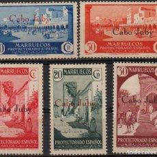 Timbres: CABO JUBY 1934-36, EDIFIL 61/66 SIN 62 ''MARRUECOS 1933-35 SOBRECAR./ EXAMINAR FOTOS DEL ANV. Y REV.. Lote 287952808