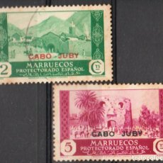 Sellos: CABO JUBY 1933-37, EDIFIL 68/69 ''MARRUECOS SOBRECARGADOS ''./ VER FOTOS DEL ANVERSO Y REVERSO.. Lote 287971648