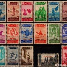 Sellos: CABO JUBY 1937, EDIFIL 85/101 ''MARRUECOS ALZAMIENTO SOBRECARGADOS''./ VER FOTOS DEL ANV. Y REV.. Lote 287998508