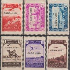 Sellos: CABO JUBY 1938, EDIFIL 104+106/10 ''MARRUECOS SOBRECARGADOS''./ VER FOTOS DEL ANV. Y REV.. Lote 288023573