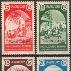 Sellos: CABO JUBY 1939, EDIFIL 112/15 ''MARRUECOS SOBRECARGADOS''./ VER FOTOS DEL ANVERSO Y REVERSO.. Lote 288075488