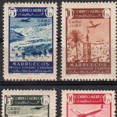 Sellos: CABO JUBY 1942, EDIFIL 133/36 SER. CORTA, ''MARRUECOS SOBRECARGADOS''./ VER FOTOS DEL ANV. Y REV.. Lote 288099448