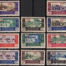 Sellos: CABO JUBY 1946, EDIFIL 162/72**, ''MARRUECOS SOBRECARGADOS'' NUEVOS, SIN FIJASELLOS./ VER FOTOS.. Lote 288115768
