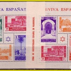 Sellos: MARRUECOS, 1927 HOJITAS CON SELLOS DE PAISAJES, EDIFIL Nº 167 Y 168 * * LUJO. Lote 288297088
