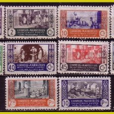 Sellos: MARRUECOS, 1946 ARTESANÍA, EDIFIL Nº 260 A 269 * *. Lote 288297583
