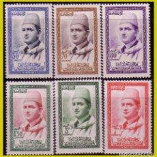 Sellos: MARRUECOS, RIZN 1957 MOHAMED V, EDIFIL Nº 13 A 18 * *. Lote 288352038