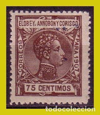 ELOBEY, ANNOBON Y CORISCIO, 1907 ALFONSO XIII, EDIFIL Nº 44 * * (Sellos - España - Colonias Españolas y Dependencias - África - Elobey, Annobón y Corisco )