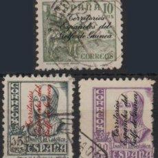 Sellos: GUINEA ESPAÑOLA 1939, EDIFIL 256/58 US. ''CID - ISABEL''./ VER FOTO.. Lote 288678168