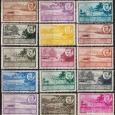 Sellos: GUINEA ESPAÑOLA 1949-50, EDIFIL 277/91 SER. CORTA ''PAISAJE - EFIGIE FRANCO'' ./ EXAMINAR FOTOS.. Lote 288694878