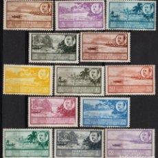Sellos: GUINEA ESPAÑOLA 1949-50, EDIFIL 277/89 SER. CORTA ''PAISAJE - EFIGIE FRANCO'' ./ EXAMINAR FOTOS.. Lote 288698543