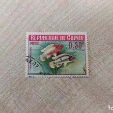 Sellos: REPUBLICA DE GUINEA - PECES DE ACURIUM.. Lote 288973018