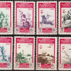 Sellos: MARRUECOS 1953, EDIFIL 374/81 ''PRO TUBERCULOSOS''./ EXAMINAR FOTOS.. Lote 289545293