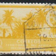 Sellos: AFRICA OCCIDENTAL ESPAÑOLA 1950 EDIFIL 8 SELLO º OASIS LAGUNA DE TINZGARRENTZ DESIERTO GRAL FRANCO. Lote 290533223