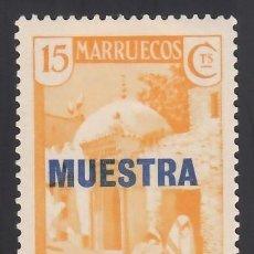 "Sellos: MARRUECOS. 1933-1935 EDIFIL Nº 137MA, /*/, ""MUESTRA"". Lote 290760643"