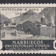 """Sellos: MARRUECOS. 1933-1935 EDIFIL Nº 134HCC /**/, HABILITACIÓN """"WATERLO & SONS LTD. SPECIMEN"""". Lote 290761718"""