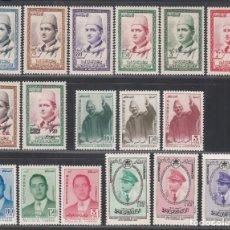 Sellos: MARRUECOS. REINO INDEPENDIENTE, 1957 LOTE DISTINTAS SERIES COMPLETAS. **/*. Lote 290819213