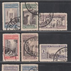 Sellos: TANGER, 1946 EDIFIL Nº 35 / 40, 41 / 46, BENEFICIO DE LOS HUÉRFANOS DE TELÉGRAFOS.. Lote 290821423