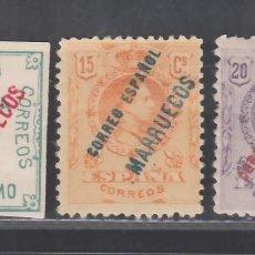 Sellos: TANGER, 1909-1914 EDIFIL Nº 13, 15, 16, /*/. Lote 290830183