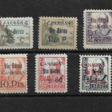 Sellos: ESPAÑA CANARIAS 1938, EDIFIL 44/51 MNH.. Lote 291551003