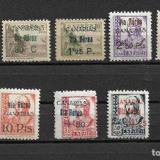 Sellos: ESPAÑA 1938 CANARIAS, EDIFIL 44/51 MH.. Lote 291926998