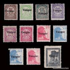 Sellos: TANGER 1939. HABILITADOS.10.MNH-MH.EDIFIL 114-124. Lote 292014668