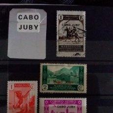 Sellos: LOTE 4 SELLOS MARRUECOS. CABO JUBY. Lote 292609243