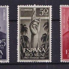 Sellos: SELLOS ESPAÑA OFERTA COLONIAS ESPAÑOLAS RIO MUNI SERIE COMPLETA EN NUEVO. Lote 293357508