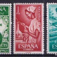 Sellos: SELLOS ESPAÑA OFERTA COLONIAS ESPAÑOLAS RIO MUNI SERIE COMPLETA EN NUEVO. Lote 293357588