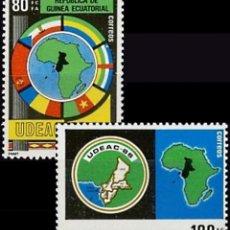 Sellos: GUINEA ECUATORIAL FNMT 1986, EDIFIL 85/86 ''UDEAC - MAPAS''./ NUEVOS SIN FIJASELLOS, MNH.. Lote 294834508