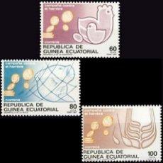 Sellos: GUINEA ECUATORIAL FNMT 1987, EDIFIL 89/91 ''CAMPAÑA CONTRA EL HAMBRE''./ NUEVOS SIN FIJASELLOS, MNH.. Lote 294836268