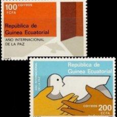 Sellos: GUINEA ECUATORIAL FNMT 1987, EDIFIL 92/93 ''AÑO INTERN. DE LA PAZ''./ NUEVOS SIN FIJASELLOS, MNH.. Lote 294836568