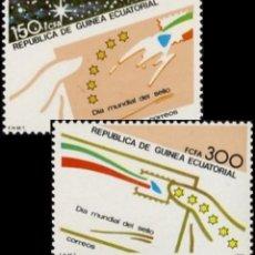 Sellos: GUINEA ECUATORIAL FNMT 1987, EDIFIL 94/95 ''DÍA DEL SELLO''./ NUEVOS SIN FIJASELLOS, MNH.. Lote 294837048