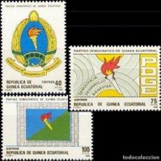 Sellos: GUINEA ECUATORIAL FNMT 1988, EDIFIL 101/03 ''PARTIDO DEMOCRÁTICO DE GUINEA./ NUEVOS, MNH.. Lote 294850493