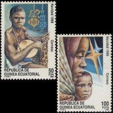 Sellos: GUINEA ECUATORIAL FNMT 1988, EDIFIL 107/08 ''NAVIDAD 88 - MÚSICA''./ NUEVOS SIN FIJASELLOS, MNH.. Lote 294853863