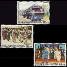 Sellos: GUINEA ECUATORIAL FNMT 1988, EDIFIL 109/11 ''20 ANIV. INDEPENDENCIA''./ NUEVOS SIN FIJASELLOS, MNH.. Lote 294857263