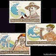 Sellos: GUINEA ECUATORIAL FNMT 1990, EDIFIL 120/22 ''BOY SCOUTS''./ NUEVO SIN FIJASELLOS, MNH.. Lote 294931133