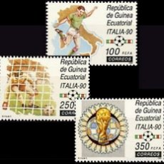 Sellos: GUINEA ECUATORIAL FNMT 1990, EDIFIL 123/25 ''FÚTBOL: ITALIA 90''./ NUEVO SIN FIJASELLOS, MNH.. Lote 294944188