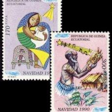 Sellos: GUINEA ECUATORIAL FNMT 1990, EDIFIL 131/32 ''NAVIDAD 90 - MUSÍCA'' NUEVOS, MNH.. Lote 294947468