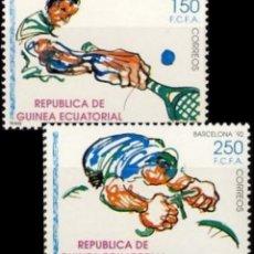 Sellos: GUINEA ECUATORIAL FNMT 1991, EDIFIL 133/34 ''DEPORTES: BARCELONA 92'' NUEVOS, MNH.. Lote 294949408