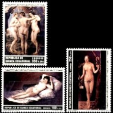 Sellos: GUINEA ECUATORIAL FNMT 1991, EDIFIL 136/38 ''PINTURAS - DESNUDOS'' NUEVOS, MNH.. Lote 294950833
